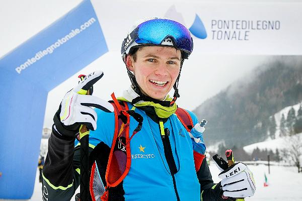 Davide Magnini in trionfo ai Campionati Italiani Giovanili Skyalp 2018