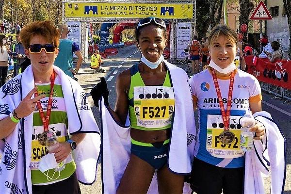 Mezza Di Treviso 2021, i primi arrivati sono stati Nadir Cavagna e Sonia Lopes